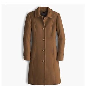 J crew Double cloth lady day coat In Twig